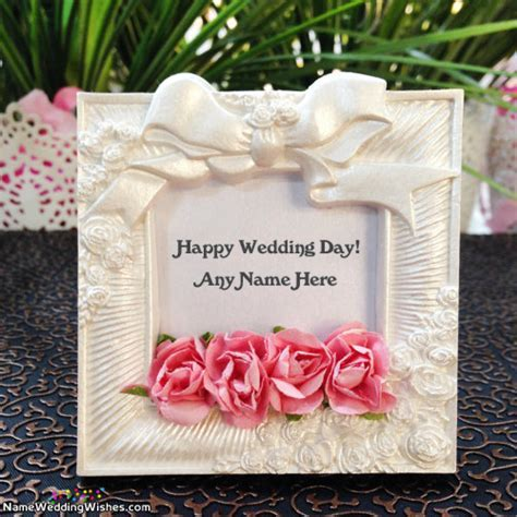 Best Ever Happy Wedding Day Wish Card With Name