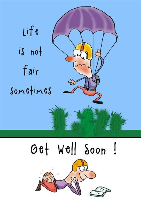 Get Well Soon parachute   Get Well Soon Card (Free