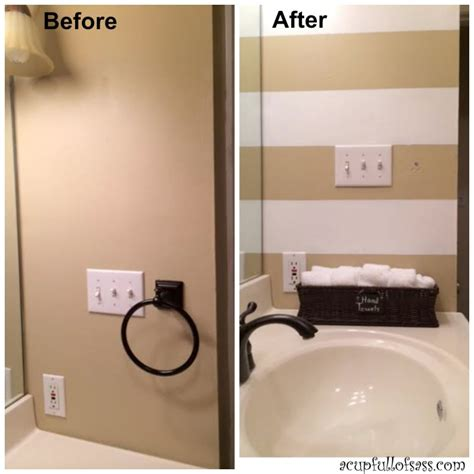 painting stripes in bathroom guest bathroom makeover part 1 painting wall stripes a cup full of sass
