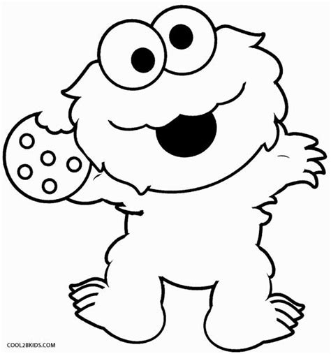 Printable Cookie Monster Coloring Pages For Kids Cool2bkids Cookies Coloring Pages