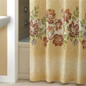 Floral Shower Curtains Croscill Mosaic Floral Shower Curtain Shower Curtains