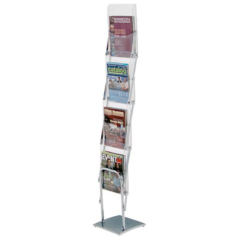 the clear view literature rack comet brochure holders