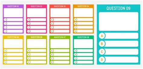 trivia template quiz card templates paperzip