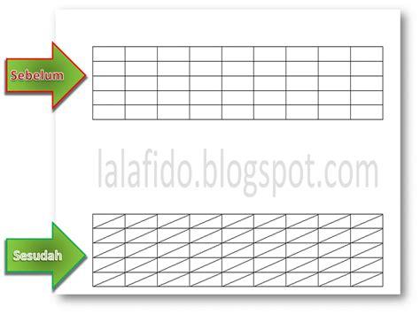 cara membuat garis diagonal di word cara membuat garis diagonal miring di tabel ms word