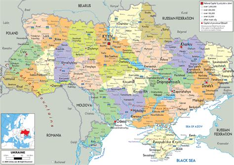 physical map of ukraine map of ukraine detailed map of ukraine with regions and