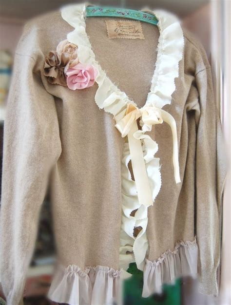 Sweater Urgan Shabby 280217 altered couture sweaters and on