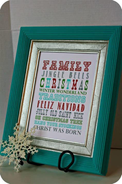 christmas diy decorations printouts diy decor framed subway free printables couponing 101
