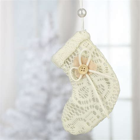 lace stocking christmas ornament christmas ornaments
