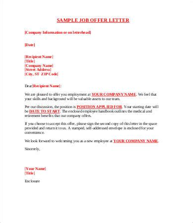 business letter exle offer 8 sle offer letters free sle exle format