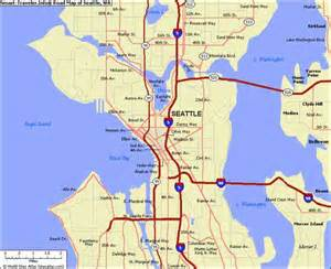 Map Of Seattle by Map Of Seattle Wa Map Holiday Travel Holidaymapq Com
