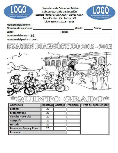examen quinto grado 2016 examen de diagn 243 stico del quinto grado del ciclo escolar