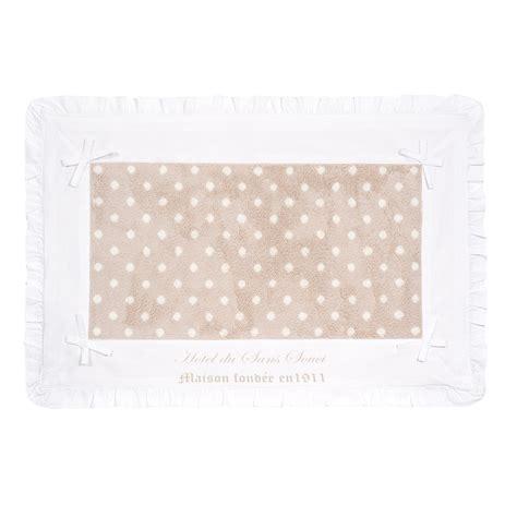 tappeti beige tappeto da bagno beige a pois in cotone 50 x 80 cm sans