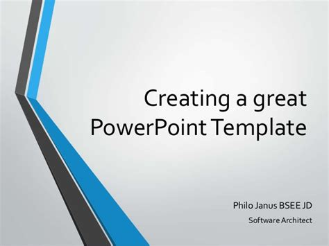 make a powerpoint template creating a great powerpoint template