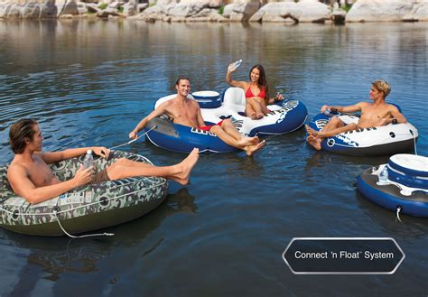 intex river run ii 2 person water pool tube float with