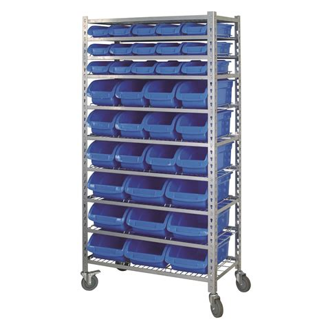 Rak Organizer Mobil mobile storage rack 36 bin 10 shelf garage storage 15 kincrome australia pty ltd kincrome