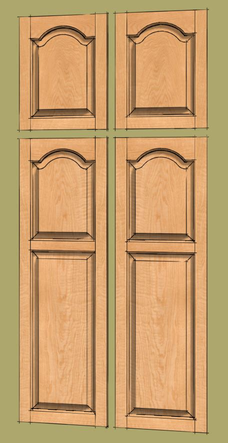 raised panel door templates a raised panel door with a cathedral panel finewoodworking