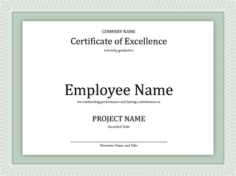 8 best images of employee award certificate templates