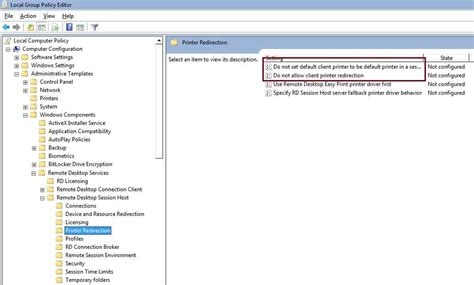 rdp redirection rdp optimisation on terminal server accops support portal