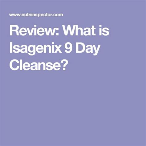 Isagenix Detox Reviews by The 25 Best Isagenix 9 Day Cleanse Ideas On