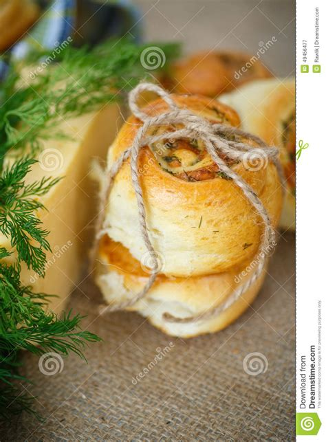 sge in a bun bun with cheese and herbs stock photo image 49456477