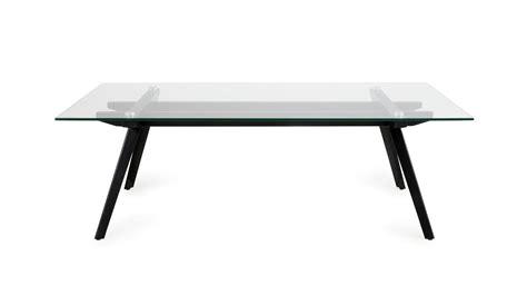 gestell tisch metall couchtisch monti tisch glas gestell metall schwarz 120x60cm