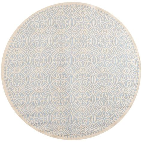 Safavieh Cambridge Light Blue Ivory 10 Ft X 10 Ft Round 10 Foot Area Rugs