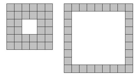 hollow square pattern in java problem 174 project euler