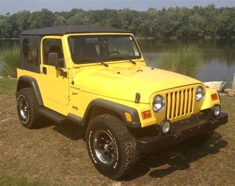 yellow jeep 4 door sell used 2002 jeep wrangler sport sport utility 2 door 4