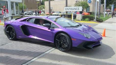 Lamborghini Lila by Purple Lamborghini Aventador Sv W Acceleration