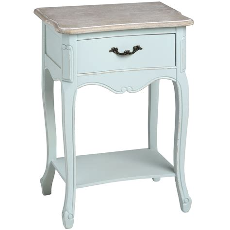 Blue Bedside L by Duck Egg Blue One Drawer Bedside With Shelf From Baytree