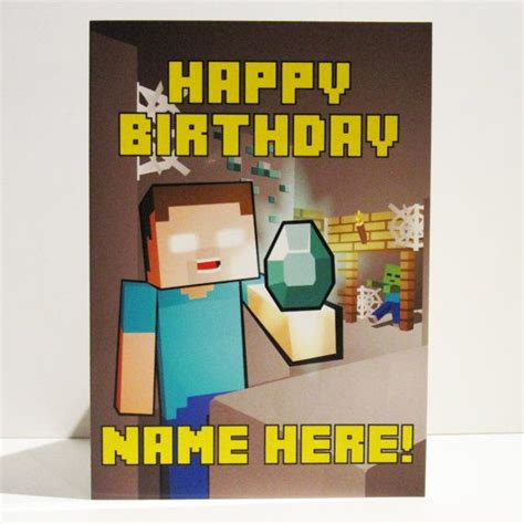 minecraft birthday cards print outs book covers