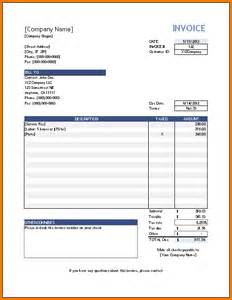3 Simple Invoice Template Expense Report