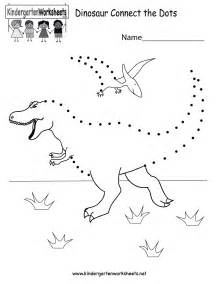 dinosaur connect the dots free kindergarten learning