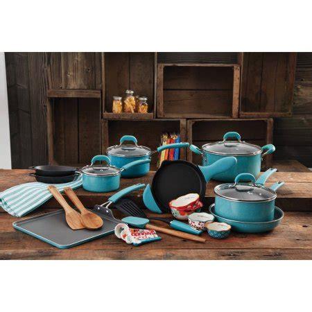 walmartpioneer ladys kitchenware the pioneer woman vintage cookware combo set 27 piece