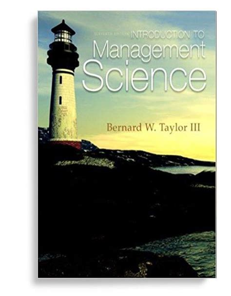 Ebook Management Science 1 introduction to management science 11th edition pdf version