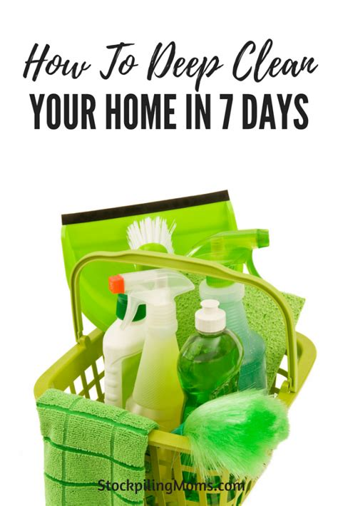 how to your in 7 days how to clean your home in 7 days