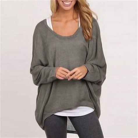 sweater t shirt 2016 autumn batwing sleeve pullover shirt