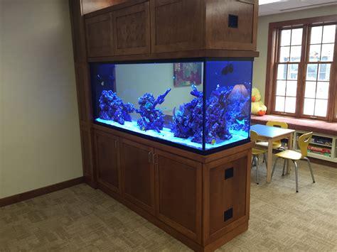 Aquarium Room Divider Aquapros Custom Aquarium At Hospice Of Buffalo New York