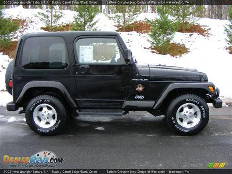 2002 Black Jeep Wrangler 2002 Jeep Wrangler 4x4 Black Camel Beige