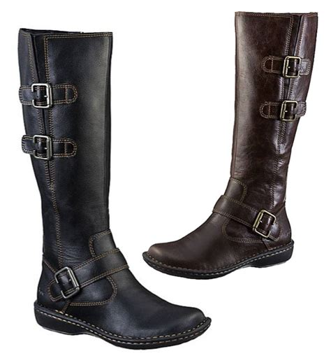b boots b o c by born rich leather look boots in black and brown
