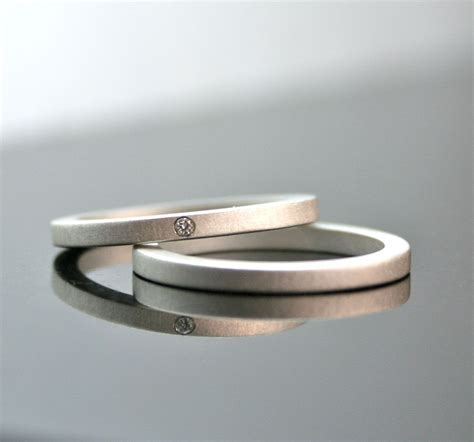 Eheringe Einfach by Simple Silver Wedding Rings For With Ipunya