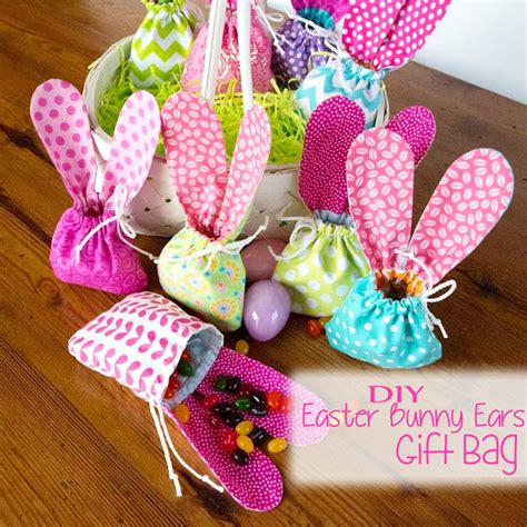 easter gifts diy easter bunny ears gift bag kid craft
