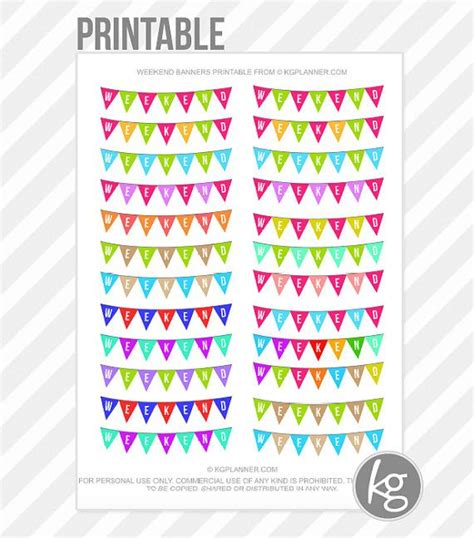printable weekend stickers weekend banners pdf printable planner stickers for by