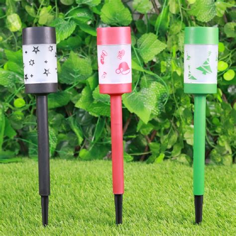 plastic solar christmas path light best solar garden