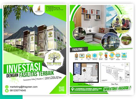 sribu flyerbrochure design desain brosur  rumah kos