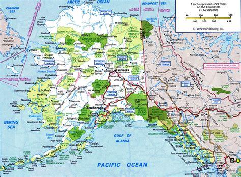 alaska state map alaska highway