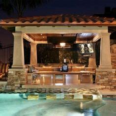 garden swimming pool custom dream homes snowy evening outdoor kitchen on pinterest swim up bar outdoor