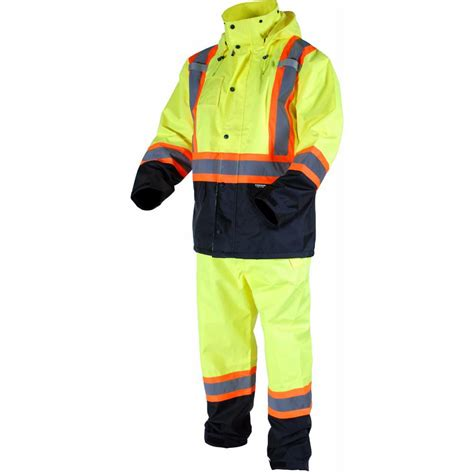 home depot paint suit terra s x large yellow high visibility reflective