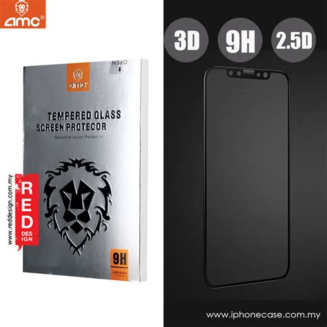 Iphone X Tempered Glass 3d Color apple iphone x amc 3d screen tempered glass for