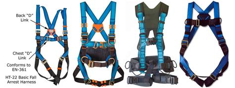 types of harnesses fall protection equipment